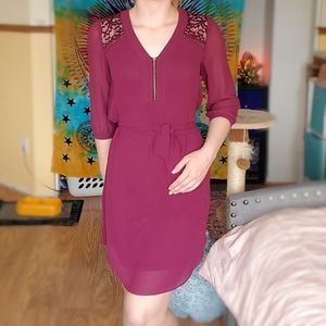Purple/Mauve Lace Back Dress